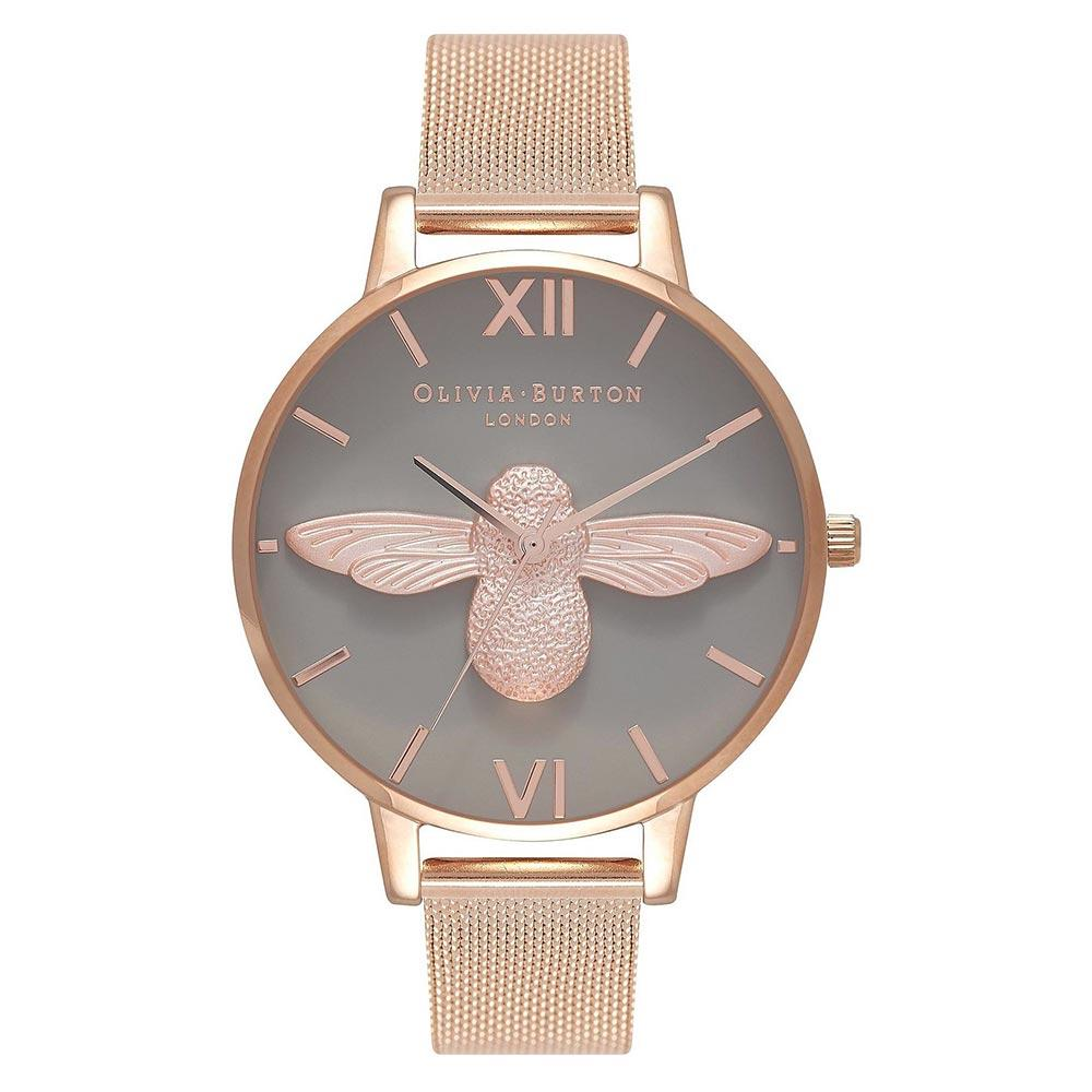 Olivia Burton 3D Bee Rose Gold Mesh Ladies Watch - OB16AM117