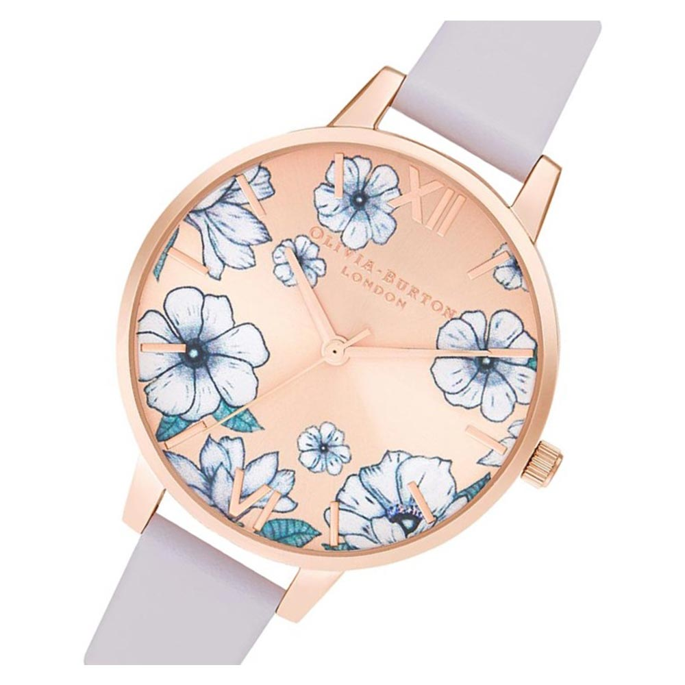 Olivia Burton Groovy Blooms Parma Violet & Rose Gold Sunray Ladies Watch - OB16AN03