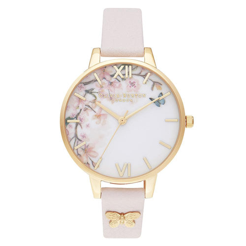 Olivia Burton Pretty Blossom Leather Ladies Watch - OB16EG123