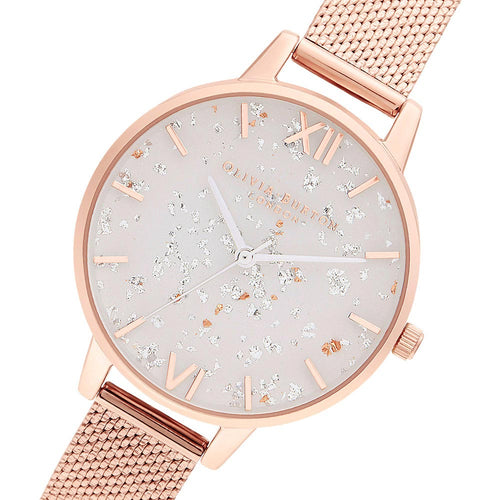 Olivia Burton Celestial Rose Gold Mesh Ladies Watch - OB16GD35