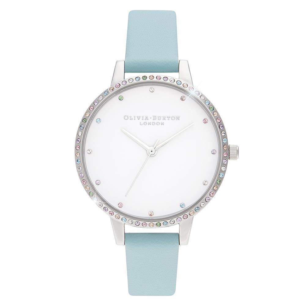 Olivia Burton Rainbow Bezel, Turquoise & Silver Ladies Watch - OB16RB19