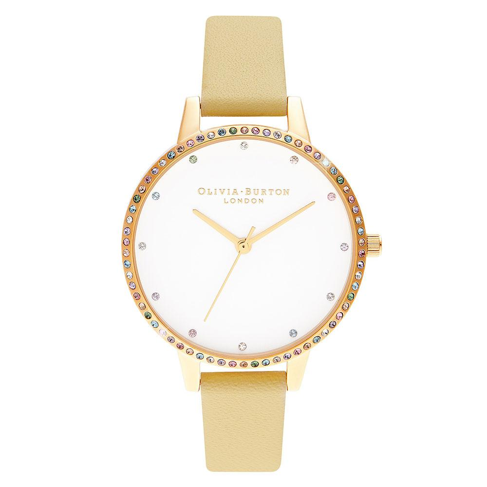 Olivia Burton Rainbow Bezel, Sunshine & Gold Ladies Watch - OB16RB20