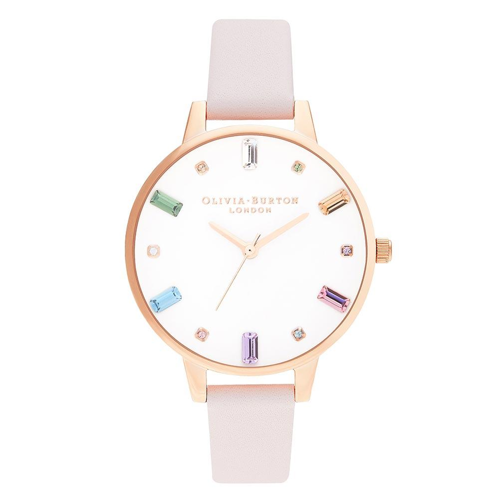 Olivia Burton Rainbow Blossom & Rose Gold Ladies Watch - OB16RB22