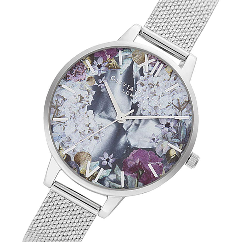 Olivia Burton Under The Sea Silver Boucle Mesh Ladies Watch - OB16US11