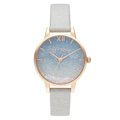 Olivia Burton Under The Sea White Shimmer Leather Ladies Watch - OB16US26