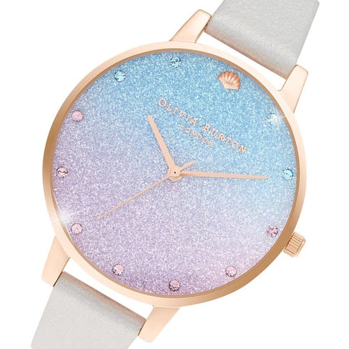 Olivia Burton Under The Sea Shimmer Pearl Leather Women's Watch - OB16US47