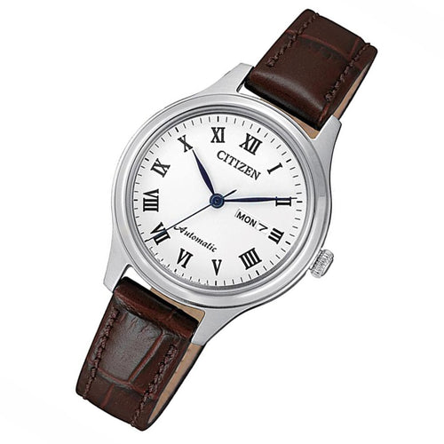 Citizen Brown Leather Automatic Women's Watch - PD7131-16A