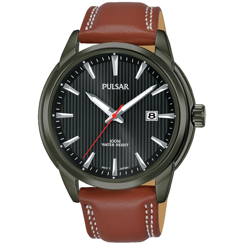 Pulsar Sports Leather Men's Watch -  PS9587X