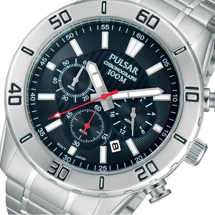 Pulsar Sports Chronograph Stainless Steel Men's Watch -  PT3363X