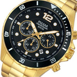 Pulsar Sports Chronograph Gold Stainless Steel Men's Watch -  PT3720X