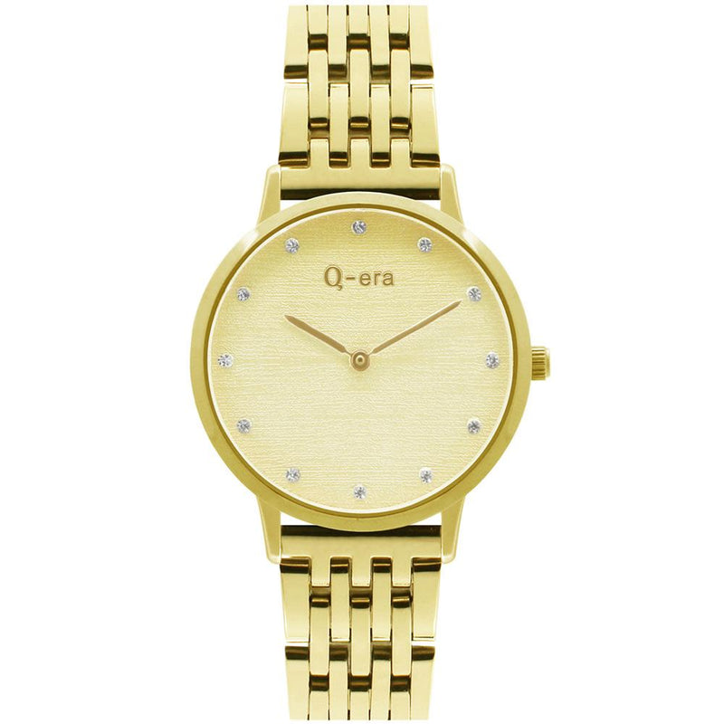 Q-Era Gold  Steel Women's  Watch - QV2801-43