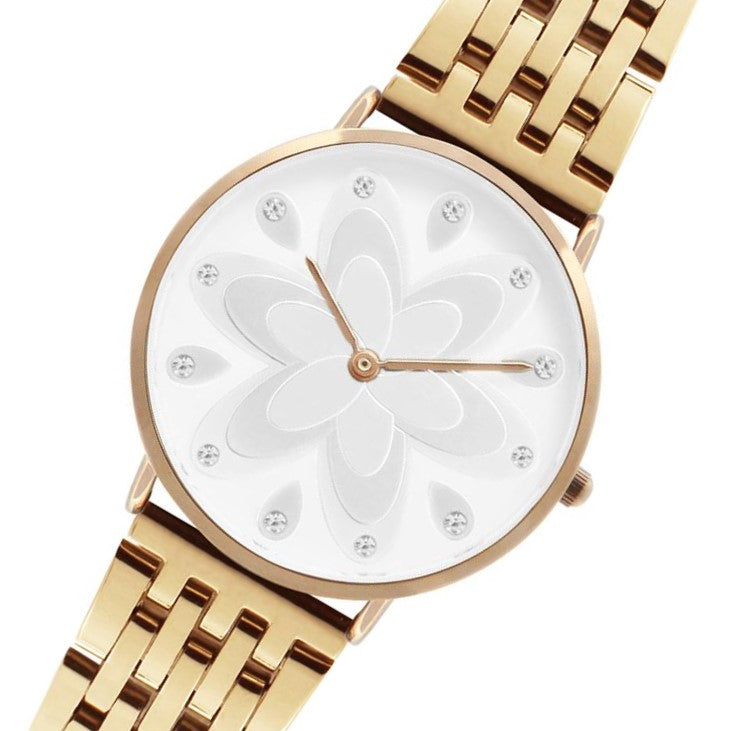 Q-Era Rose Gold  Steel Women's  Watch - QV2802-87