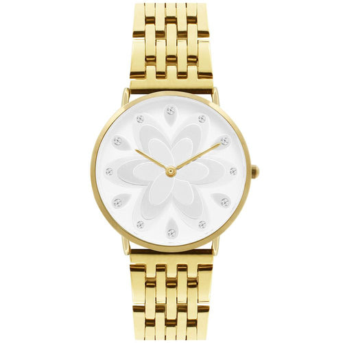Q-Era Gold  Steel Women's  Watch - QV2802-88
