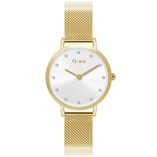 Q-Era Gold Mesh Women's  Watch - QV2803-29
