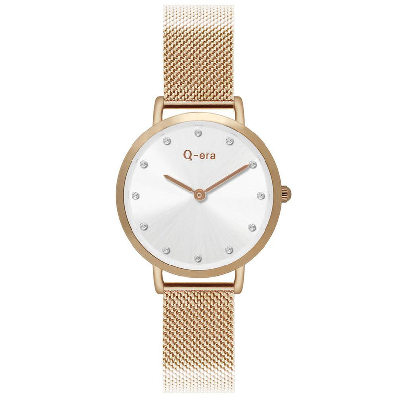 Q-Era Rose Gold Mesh Women's  Watch - QV2803-32