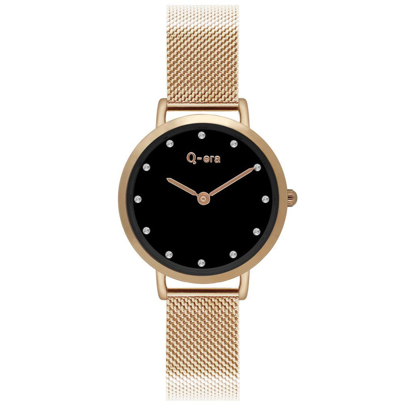 Q-Era Rose Gold Mesh Women's  Watch - QV2803-72