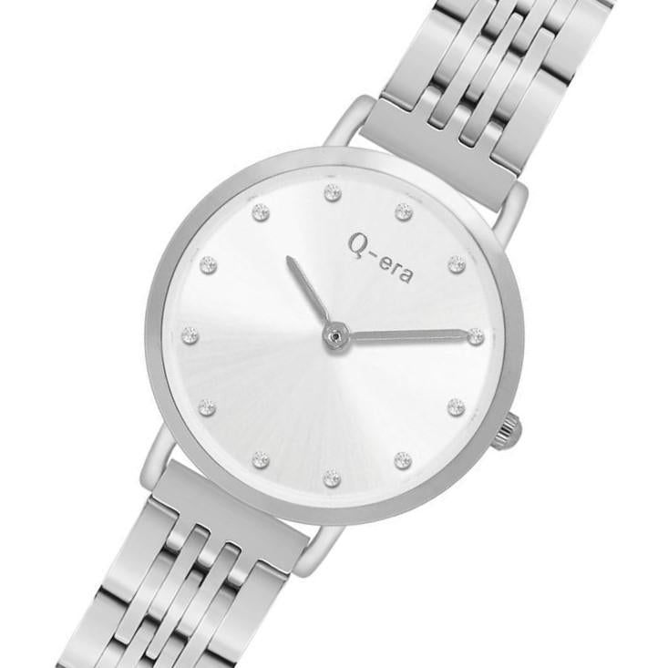 Q-Era Silver Steel Women's  Watch - QV2803-7
