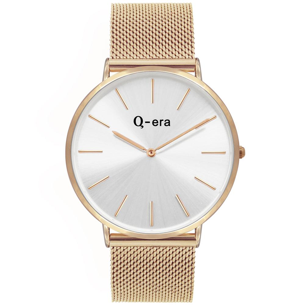 Q-Era Rose Gold Mesh Men's Watch - QV2806-12