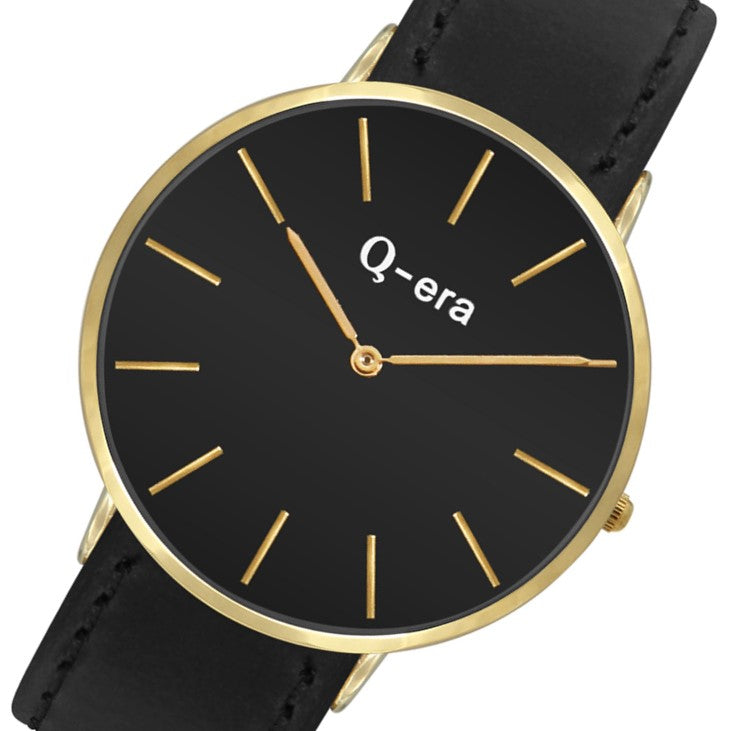 Q-Era Black Leather Men's Watch - QV2806-5