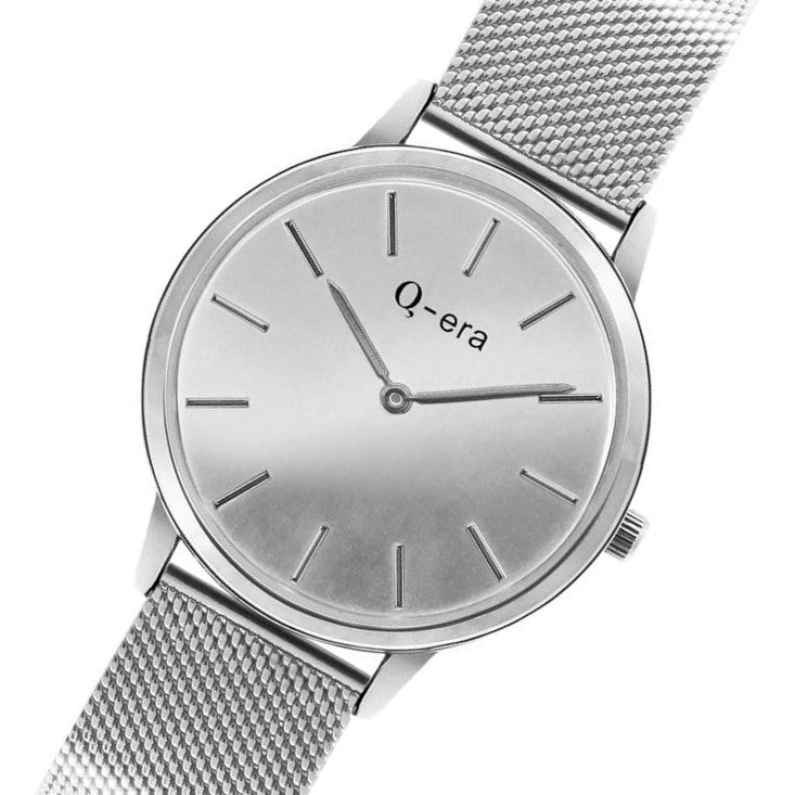 Q-Era Silver Mesh Women's  Watch - QV2808-4