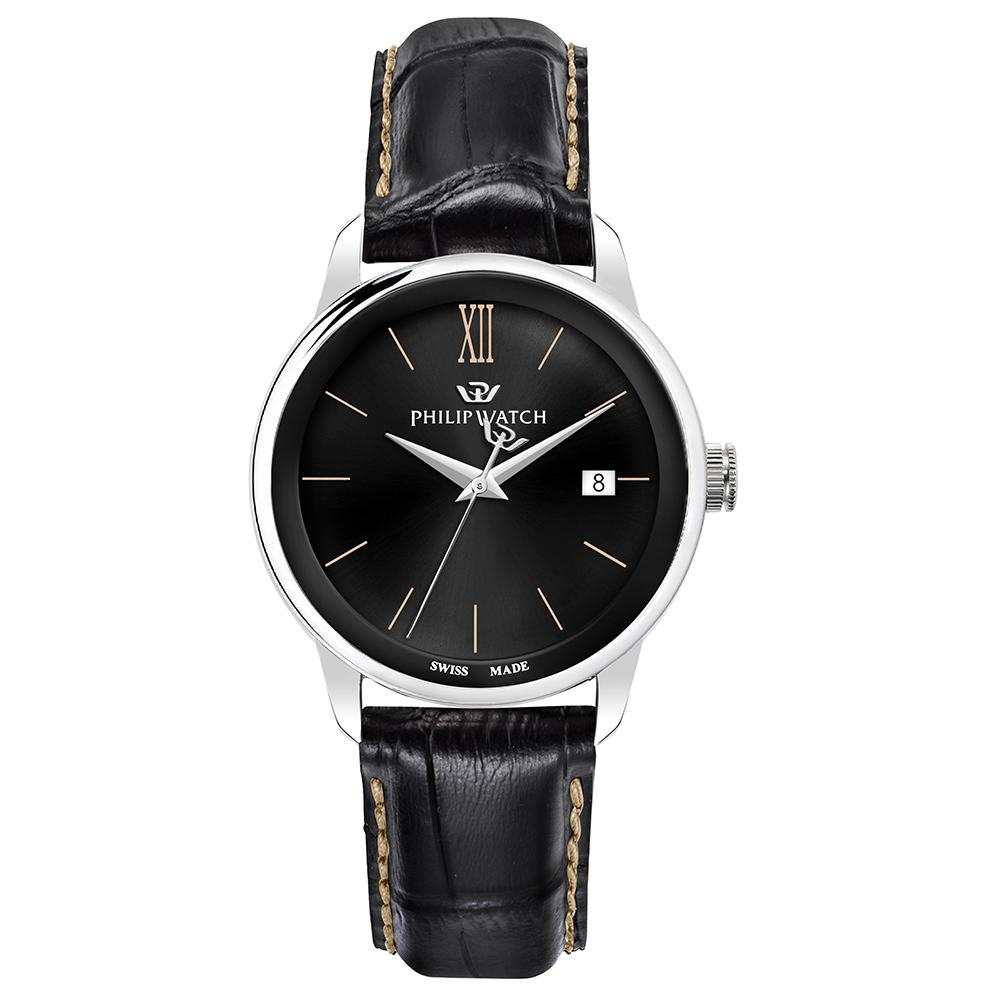 Philip Watch Anniversary Black Leather Men's Watch - R8251150004