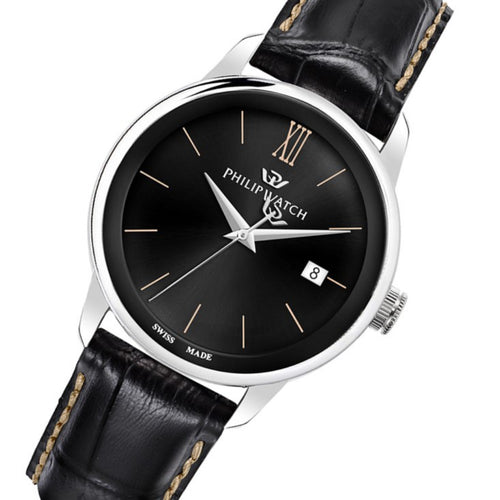 Philip Anniversary Black Leather Men's Swiss Made Watch - R8251150004