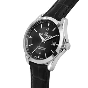 Philip Watch Blaze Black Leather Multi-function Men's Watch - R8251165005