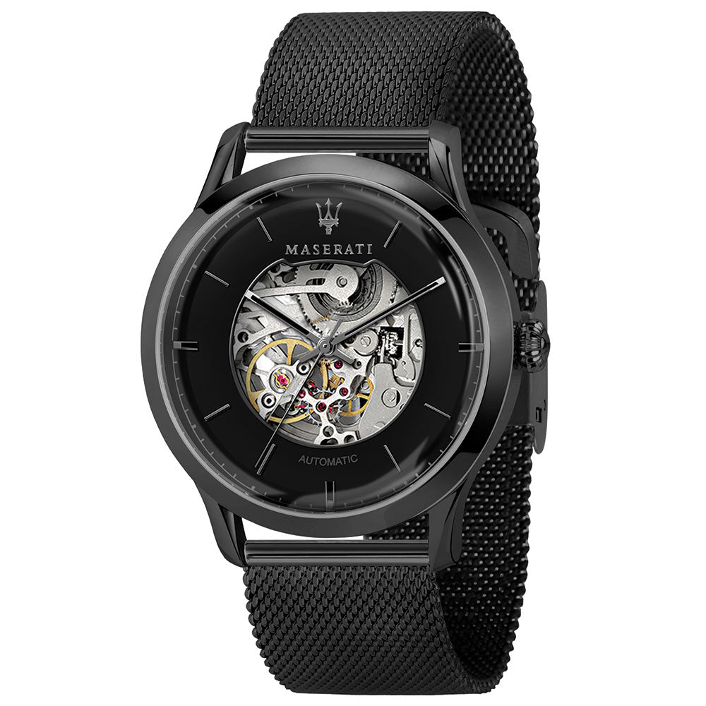 Maserati Ricordo 42mm Automatic Skeleton Black Mesh Men's Watch - R8823133002