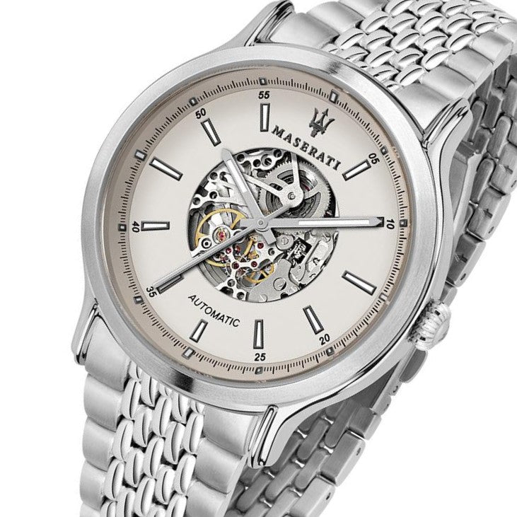 Maserati Epoca 42mm Automatic Skeleton Stainless Steel Men's Watch - R8823138001