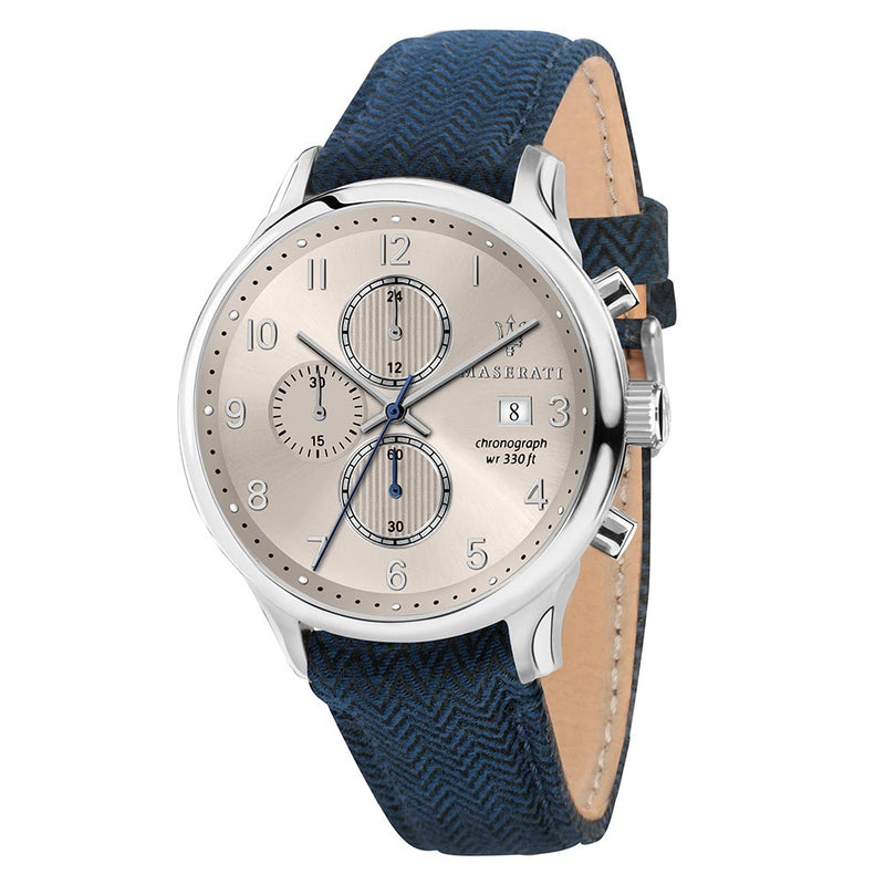 Maserati Gentelman Casual Blue Leather Men's Watch - R8871636004