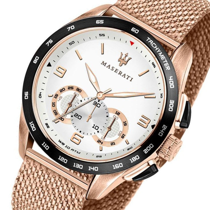 Maserati Traguardo Rose Gold Mesh Men's Watch - R8873612011