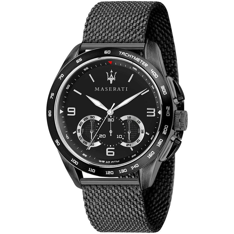Maserati Traguardo Black Mesh Men's Watch - R8873612031