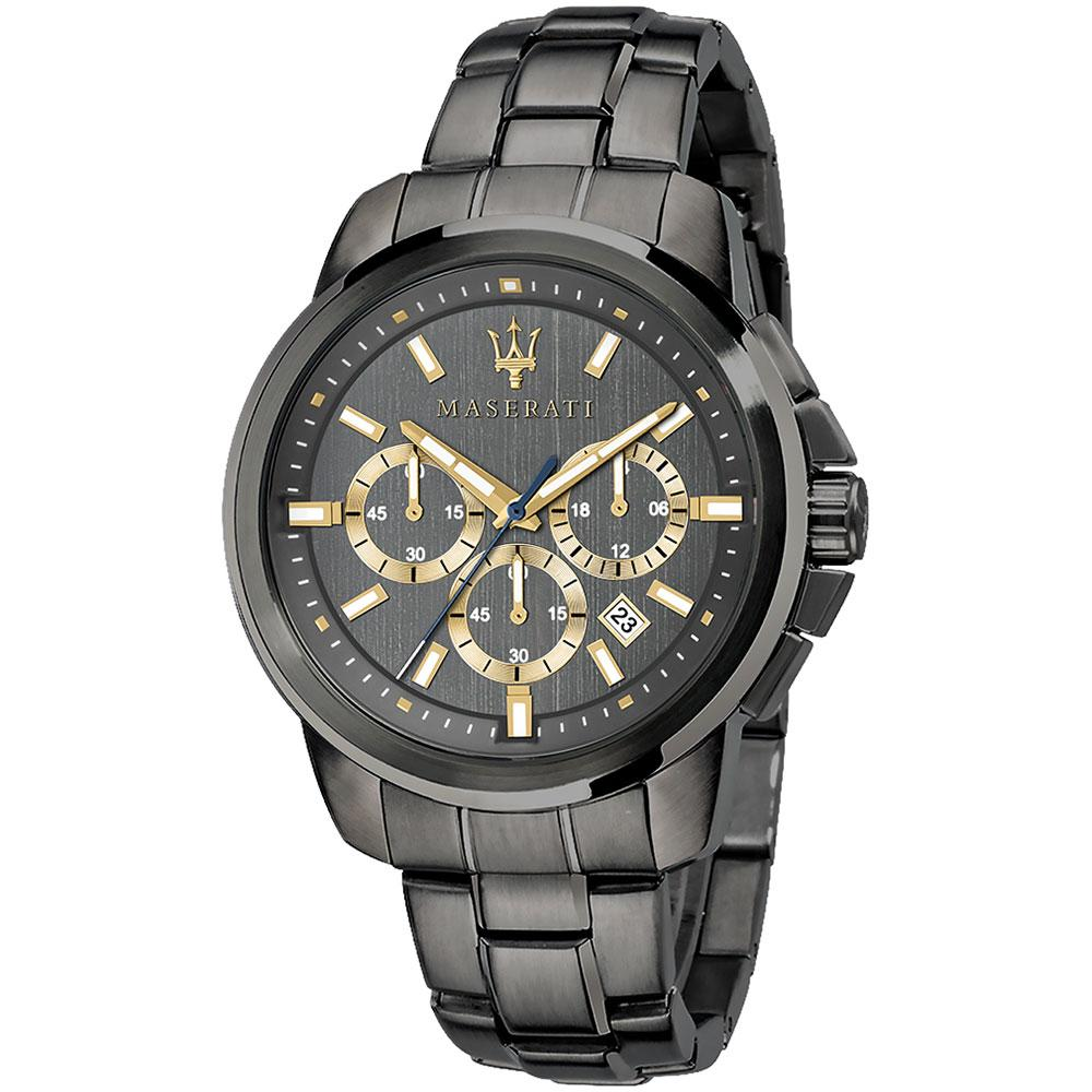 Maserati Successo Black Stainless Steel Men's Watch - R8873621007