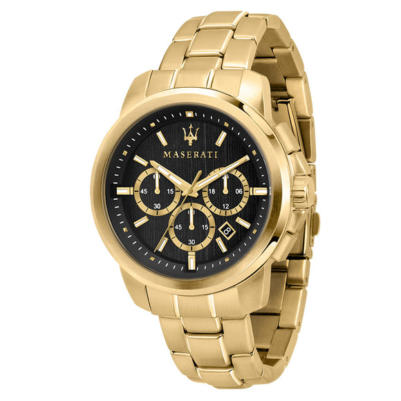 Maserati Successo 44mm Gold Steel Men's Watch - R8873621013