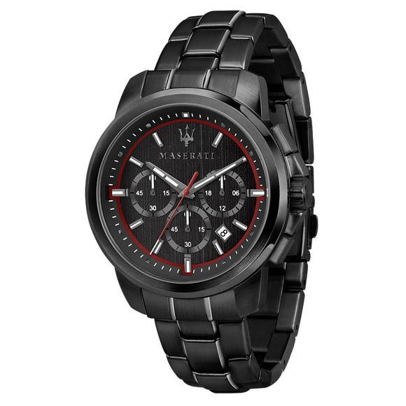 Maserati Successo 44mm Black Steel Men's Watch - R8873621014