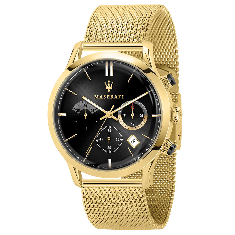 Maserati Ricordo 42mm Gold Mesh Men's Watch - R8873633003