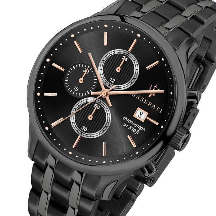Maserati Gentelman Casual Black Grey Men's Watch - R8873636003
