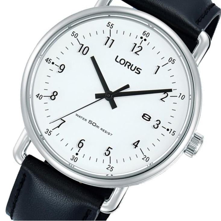 Lorus Silver Leather Men's Watch -  RH913KX-9