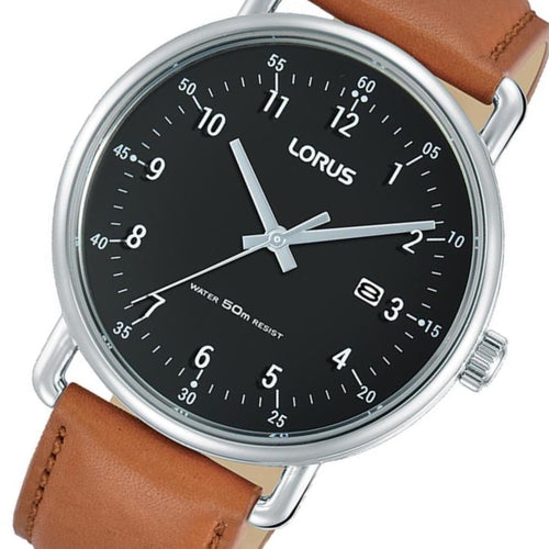 Lorus Brown Leather Men's Watch -  RH915KX-9