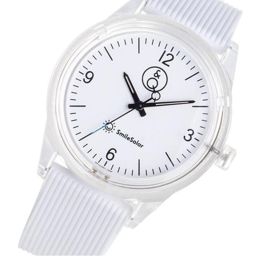 Q&Q SmileSolar White Solar Unisex Watch - RP10J001Y