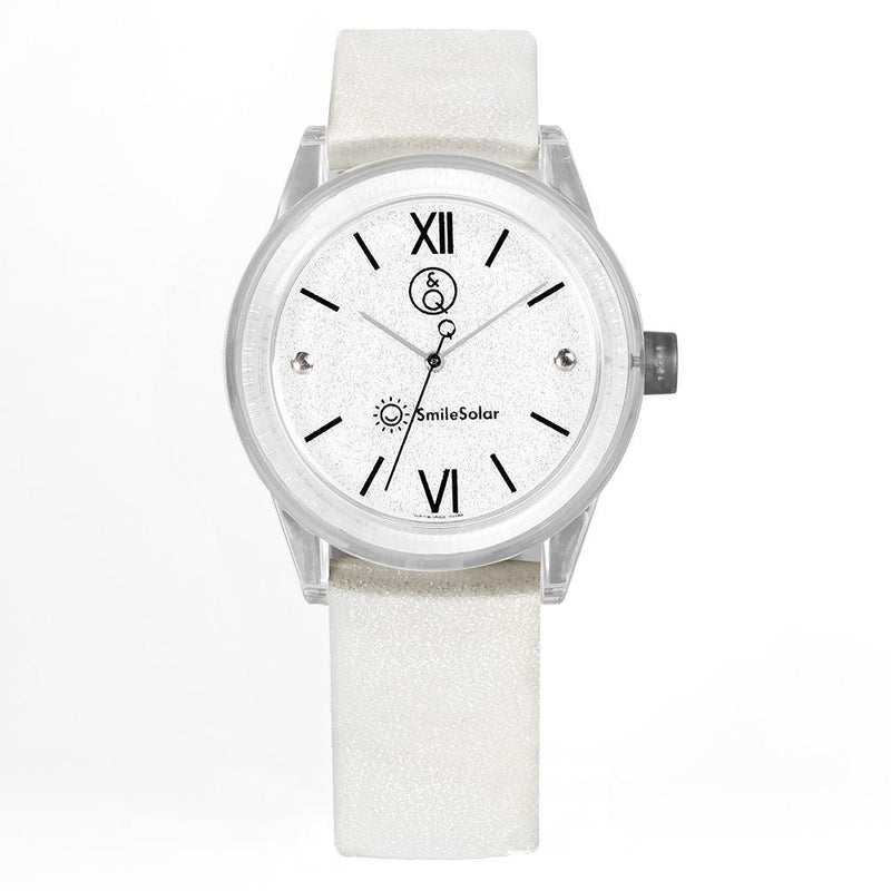 Q&Q Smilesolar White Unisex Watch - RP18J002Y
