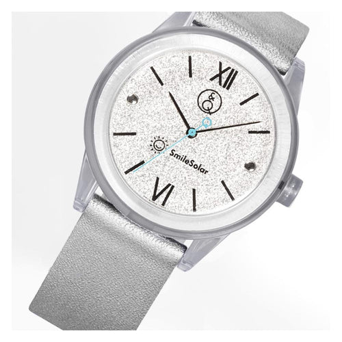 Q&Q Smilesolar Silver Unisex Watch - RP18J006Y