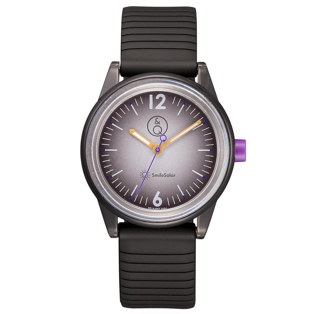 Q&Q SmileSolar Black Solar Unisex Watch - RP18J007Y
