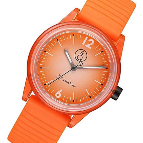 Q&Q SmileSolar Orange Dial Solar Kids Watch - RP18J011Y