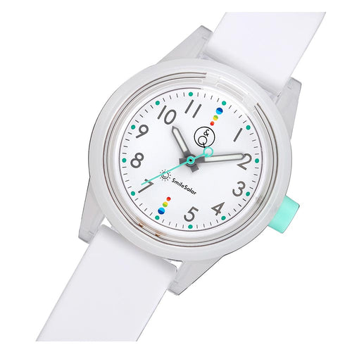 Q&Q Smilesolar Series White Solar Unisex Watch - RP29J009Y