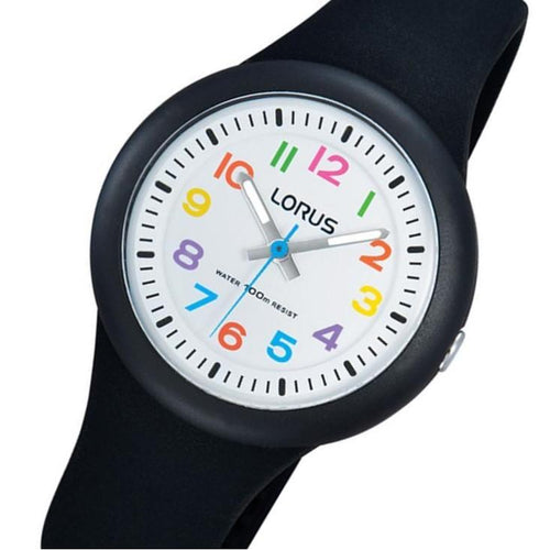 Lorus Black Quartz Kids Watch -  RRX41EX-9