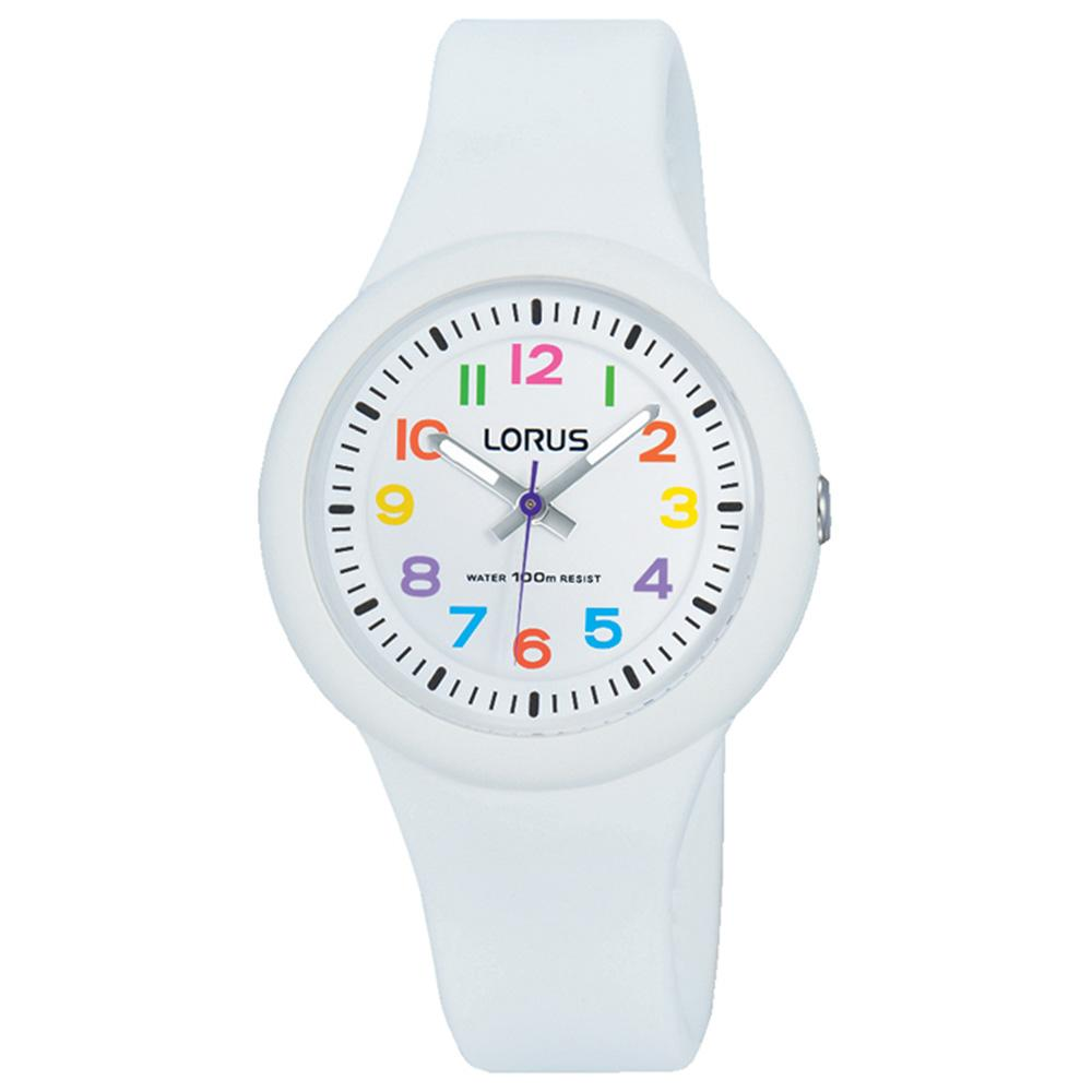 Lorus White Quartz Kids Watch -  RRX43EX-9