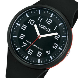 Lorus Casual Black Quartz Youth Watch - RRX47DX-9