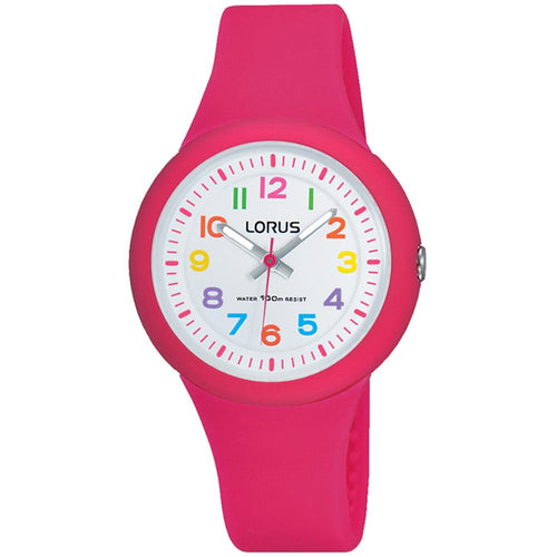 Lorus Pink Quartz Kids Watch -  RRX49EX-9