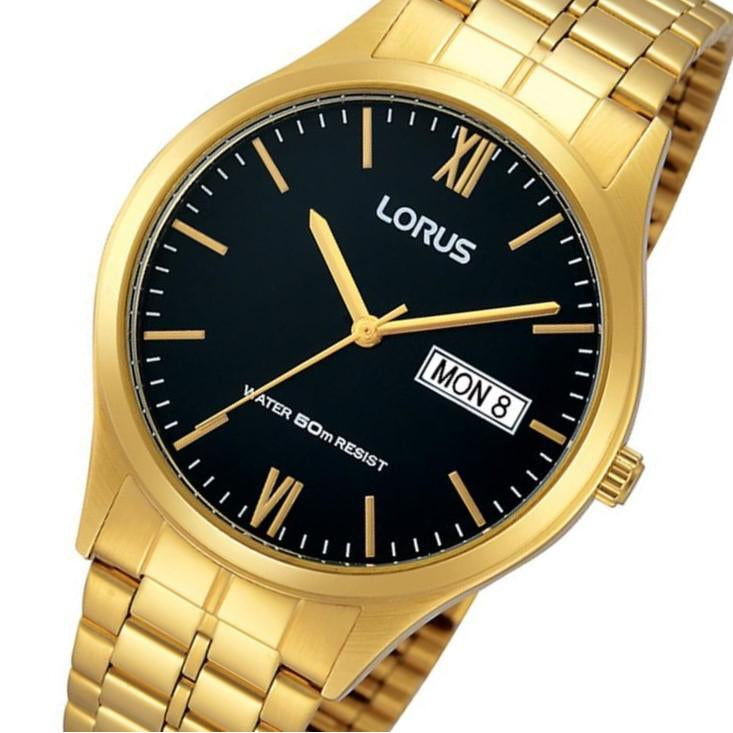 Lorus Gold Toned Stainless Steel Men's Watch - RXN06DX-9